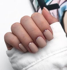 Cute and adorable nail art designs by lyuciya nails. Beige Nails, Nude Nails, Nail Manicure, Bright Nail Polish, Nail Design Spring, Matte Nail Art, New Nail Designs, Fabulous Nails, Natural Nails