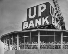 The Union Planters National Bank sign atop the 100 North Main Building glowed for the first time May 11, 1965.