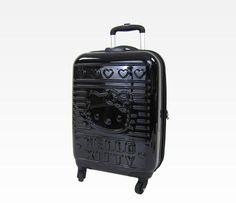 "Hello Kitty 20"" Rolling Luggage: Black"