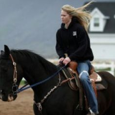 She look like just another barrel racer, but she's much more. She is an inspiration to those who have lost hope. This is Amberley Snyder, she has been barrel racing since she was 7, she has always wanted to compete in the NFR, but when she was 18 she lost control of her truck, and she was paralyzed from the waist down. But this is her, still paralyzed, but still competed with winning times, she uses her hands to communicate with the horse to go faster instead of her legs. She proved no matte...