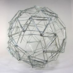 'Paperclip Snub Dodecahedron' - Zachary Abel... yup. also awesome. math + art = amazingness.