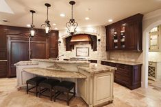 54 Ideas Curved Kitchen Island With Seating Stove Kitchen Island Designs With Seating, Curved Kitchen Island, Kitchen Island Lighting Modern, Kitchen Island Storage, Kitchen Islands, Design Kitchen, Kitchen Island With Sink And Dishwasher, Sink In Island, Granite Kitchen