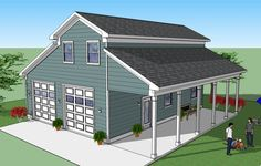 The kCambridge is equipped with the prerequisites of a really great building. Barn Apartment, Garage Apartment Plans, Garage Apartments, Garage Plans, Rv Garage, Garage Office, Dream Garage, Garage Ideas, Log Home Plans