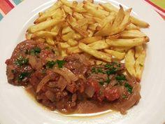 Deliciosa paparoca: Bifes de cebolada