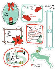 Roundup of Free Holiday Gift Tag Printables