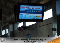 John F. Kennedy JFK International Airport - ViewStation CoverStation, Indoor Signage for Airports, ViewStation by ITSENCLOSURES #ViewStation
