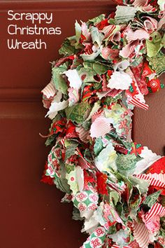 DIY Fabric Christmas Wreath