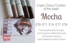 Copic Colour Combo of the week Mocha