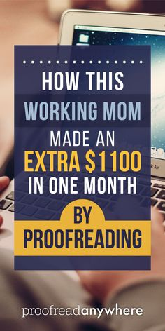 Congratulations to Alicia! She hustled and is now making great money doing proofreading work! Learn how Alicia made $1,100 as a proofreader her first month. via @#