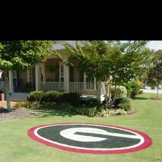 Go Dawgs---I am SO doing this in my yard this spring.  What an awesome idea!!!