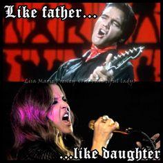 elvis lisa marie presley | Daddy & Lisa - Elvis Aaron Presley and Lisa Marie Presley Fan Art ...