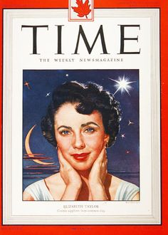 1949 original vintage Time magazine cover featuring Elizabeth Taylor. Magazine not included.