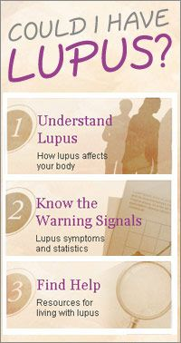 #Lupus Lots of good answers even if you know you already have it