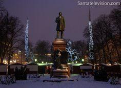 Mercadillo navideño en Helsinki, Finlandia