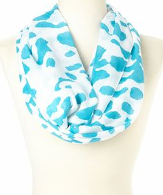 Another great find on #zulily! Aqua & White Spots Infinity Scarf #zulilyfinds  $12.99 from 28.00