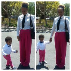 Mother and son matching Easter outfits @deveneyj_