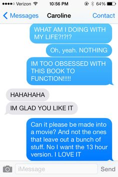 Would anyone like to guess what Caroline and I are talking about? Yep, After. For those of you who don't know, After is a series of books on Wattpad containing about 100 small chapters in each book. It is about a perfect 18 year old girl named Tessa and of course the tattooed rude boy Harry. If you haven't read it I suggest you do. But also let me say that you should start it in a weekend or break. Please no spoilers in the comments but I would love to hear what you have to say! -ME
