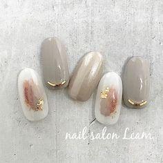 Posh Nails, New Year's Nails, Glam Nails, Beauty Nails, Hair And Nails, Korea Nail, Subtle Nails, Neutral Nails, Asian Nails