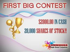 Win $500 and 5,000 shares of stock! Click here to join CommHubb: http://www.commhubb.com/affiliate.php?ref=29805