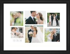 Gallery Collage of Six Framed Print, Black, Classic, Cream, White, Single piece, 24 x 36 inches