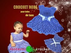 كروشيه فستان اطفال How to crochet a baby dress - YouTube