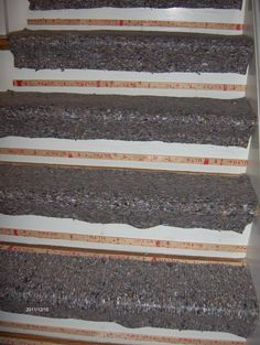 This is how a flight of steps should look prior to installed the new carpet. HOME BASED CARPET & FLOORING