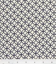 Quilter's Showcase Fabric-Navy Circle Tile: keepsake calico fabric: quilting fabric & kits: fabric: Shop | Joann.com