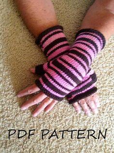 PDF Knitting PATTERN Pegi's Fingerless Gloves by LawsOfKnitting, $5.50