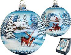 The Holiday Aisle Limited Edition Moose-Deer Glass Ornament Old World Christmas, Christmas Balls, Christmas Art, Christmas Wreaths, Christmas Decorations, Holiday Decor, Mary Christmas, Painted Christmas Ornaments, Hand Painted Ornaments