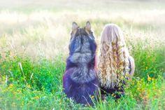 Amanda and Husky Kyro <3.