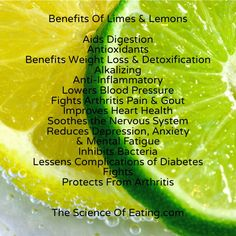 Like many of the fruits and vegetables I feature here, lemons and limes contain unique flavonoid compounds that have antioxidant and anti-cancer properties. While these flavonoids have been shown to stop cell division in many cancer cell lines, they also offer antibiotic effects.