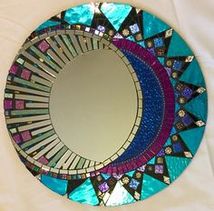 Pinned onto UntitledBoard in Category Stained Glass Mirror, Stained Glass Birds, Mirror Mosaic, Mosaic Diy, Stained Glass Panels, Mosaic Wall, Mosaic Glass, Mosaic Tiles, Mosaics