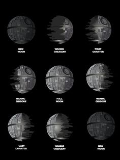 The Death Star Moon phase.  by Ismael Sandiego