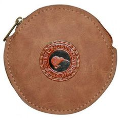 Outback Kiwi Coin Bag Round. A small coin purse just perfect for your small change or for children to hold their pocket money in.This is part of a new range in the Outback Kiwi purses and wallets that we now stock.