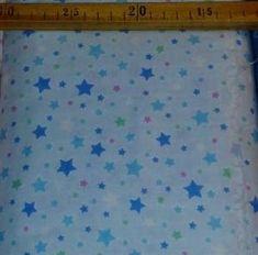 Bilde av Dobbel gauze i blå med stjerner