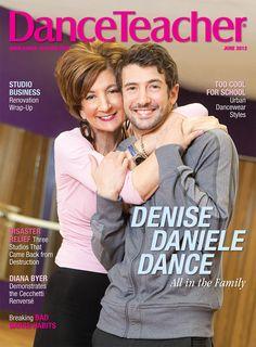 Denise Blackstone and son Al Blackstone on our June 2012 cover. Running Denise Daniele Studio is a family affair!