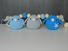 Wagenspanner vogeltjes lichtblauw-blauw-lichtgrijs