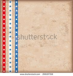 Vintage independence day background design with brown colors and US-Flag stripes. Eps 10 vector file.