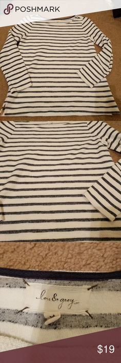 """Lou and Grey Striped Blouse Like new, 25"""" L, 20.5"""" across bust Lou & Grey Tops Blouses"""