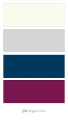 Ivory, Silver, Navy, and Sangria Wedding Color Palette - custom color palette created at MagnetStreet.com