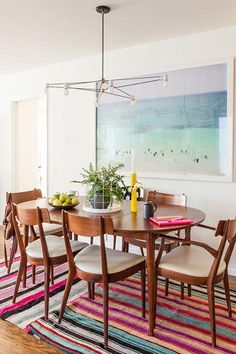 Art by Max Wanger at the home of Bri Emery via Simply Framed
