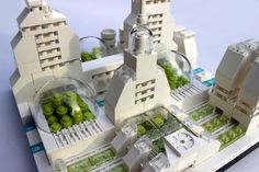 https://flic.kr/p/uvfafL | Lego Metropolis Oxygen Factory - V2 | Plant conservatory / Oxygen factory Last plants on earth were protected behind glas... Final version of the newest addition to my Lego Metropolis,