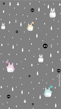 Gray Totoro wallpaper home screen