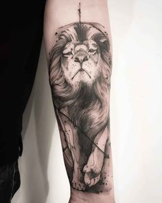 arm tattoo lion king