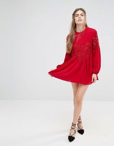 Image 4 of Endless Rose Lace Long Sleeve Dress