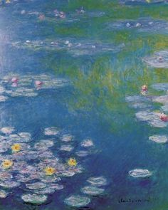 Claude Monet - Waterlilies at Giverny - Fine Art Print