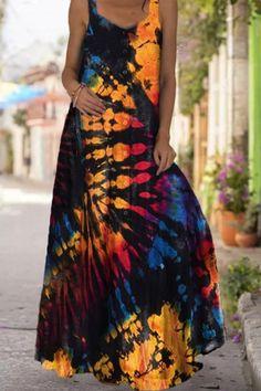Butterfly Print Dress, Tie Dye Dress, Floor Length Dresses, Casual Dresses, Maxi Dresses, Sleeveless Dresses, Boho Outfits, Plus Size Dresses, Dresses Online