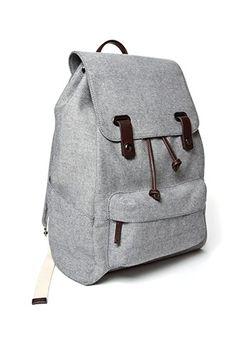 everlane reverse-denim snap backpack