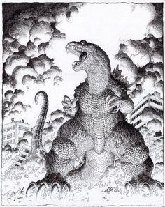 Godzilla//Arthur Adams/A/ Comic Art Community GALLERY OF COMIC ART