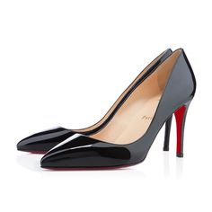"""Named after one of his favorite neighborhoods in Paris, the """"Pigalle"""" is one of Monsieur Louboutin's first highly coveted styles. With her perfectly pointed toe and strong stiletto heel, this 85mm, single sole style is a must-have for Loubie newcomers and collectors alike. Swathed in stunning black patent leather, your love affair with this iconic pump is sure to last a lifetime."""